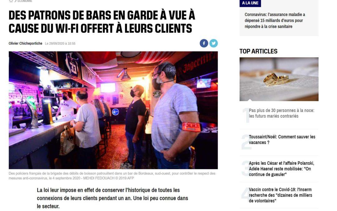 DES PATRONS DE BARS EN GARDE À VUE À CAUSE DU WI-FI OFFERT À LEURS CLIENTS